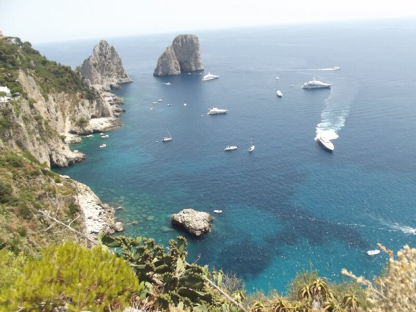 tour capri with the boat